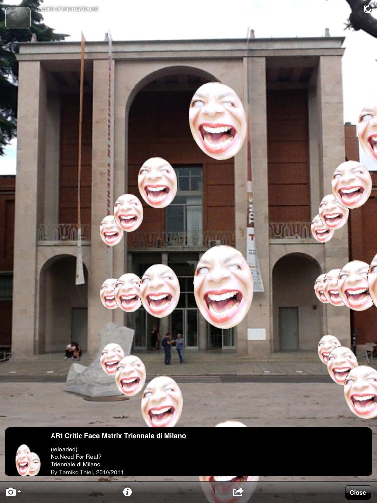 Triennale Di Milano Ceramics : Art critic face matrix reloaded augmented reality